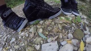 Soaking skate shoes with my friend