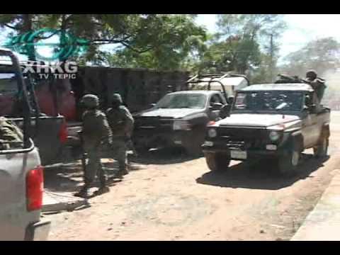 Choque entre militares y sicarios