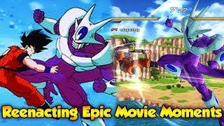 Epic Moments from Dragon Ball Z Movies! Reenacting DBZ Movies - Dragon Ball Xenoverse 2