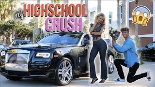 PICKING UP MY HIGH SCHOOL INSTAGRAM CRUSH IN A ROLLS ROYCE! (AMAZING REACTION)