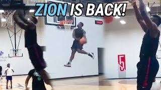Zion Williamson Has Been IN THE LAB! Shows Off New Jumper & Dope Bounce In Pickup Game 🔥