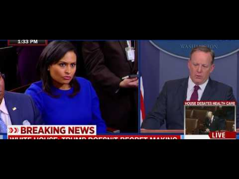Sean Spicer Admits Trump Is Taking Away Health Care To Pay For Tax Cuts