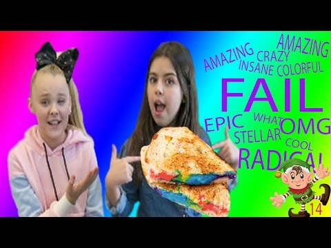 RAINBOW GRILLED CHEESE WITH SOPHIA GRACE! Vlogmas day 14