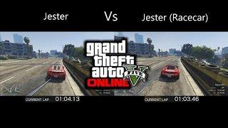 GTA 5 PS4 - Jester (Racecar) Vs Jester (GTA V Car Testing)