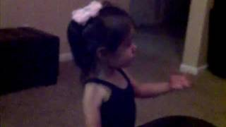 Angry toddler speaks her mind