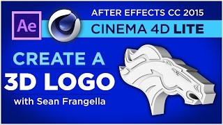 Create a 3D Extruded Logo in Cinema 4D and After Effects CC 2015, C4D Lite Tutorial - Sean Frangella