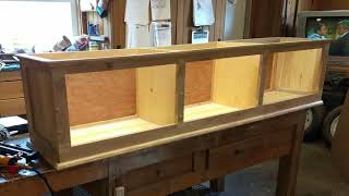 Hallway entry bench update