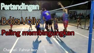 Pertandingan Bola Volly paling membingungkan - Bola volly kampung - Volly tarkam-Volly malam Puasa