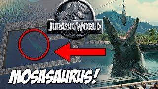 MOSASAURUS DE JURASSIC WORLD! RECINTO DE MOSASAURUS! JURASSIC WORLD ARK PARK!!