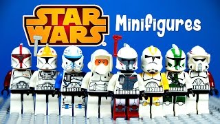 LEGO Star Wars Clone Troopers KnockOff Minifigures Set 6 Captain Rex & Commander Gree