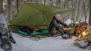 Solo Overnight in a Snow Storm. Winter Camping With Subscriber Gear.