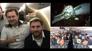 PLANE DISASTER Colombia plane crash Lionel Messi and Argentina football team on same aircraft week