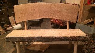 THE WORKSHOP. Log Slab Bench. Part 1. The Build.