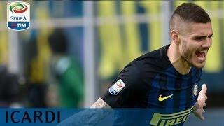Il gol di Icardi (17') - Inter - Atalanta - 7-1 - Giornata 28 - Serie A TIM 2016/17