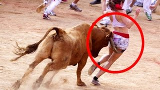Angry Bulls Attack Men Funny Video  Animals Vs Men || The Animal Tv