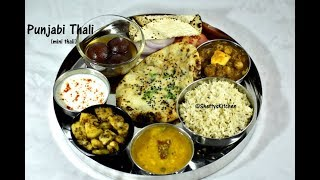 punjabi thali recipe   north indian thali   lunch menu ideas