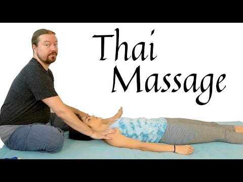 Back Pain Relief: Thai Massage Tutorial, Upper Back & Arms, Carpal Tunnel,  How to Massage