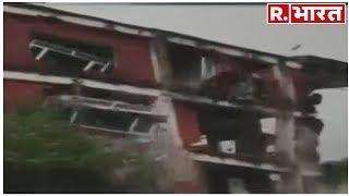 नौ राज्यों में जारी बारिश और बाढ़ का सितम: ताश के पत्तों की तरह ज़मींदोज़ हो गया हिमाचल में ये घर