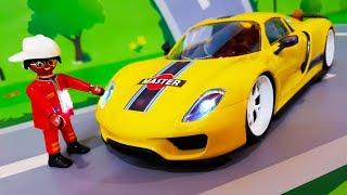 Мультики про Машинки. Новая Игрушка для Петровича – Желтая машинка. Лего Мультфильмы для детей