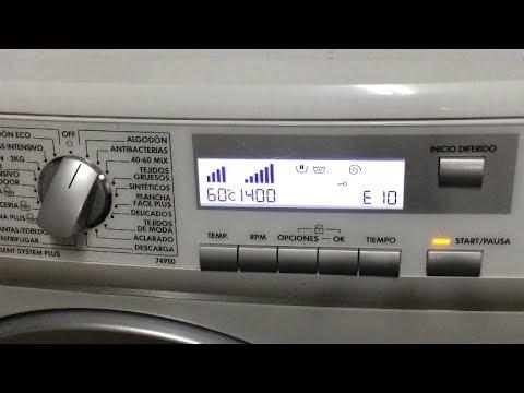Error E10 - EF4. Avería lavadora Aeg-Electrolux (74950), Solucion.[Fault washing machine, Solution]