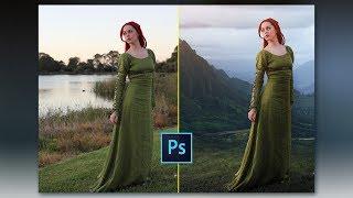 Photoshop CC Tutorial: Background Change and Photo Manipulation Tutorial