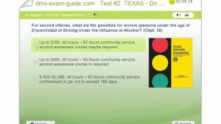 Texas Driver Permit Exams - Practice Test #2 (Part A) - Traffic Signs and Driving Rules