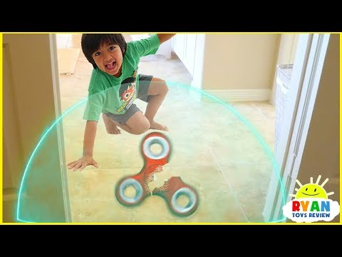 Ryan Pretend Play with Fidget Spinners and Avengers Superhero Hide and Seek
