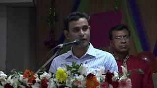 Md Kamaruzzaman(ASP 36 BCS) delivering speech at 36th BCS reception program