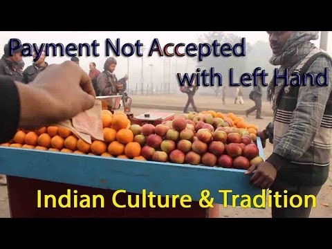 Indian Culture Tradition Videos - No Payment with Left Hand Please !!