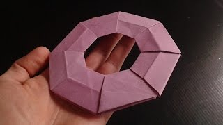 how to make paper frisbee origami