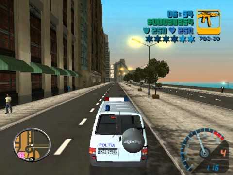Andrei joaca GTA Romania 2 Ep.5 Plimbare cu duba de politie