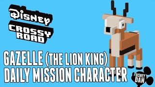Disney Crossy Road GAZELLE Daily Mission Character Gameplay - The Lion King