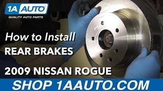 How to Install Replace Rear Brake Pads Rotors 2008-15 Nissan Rogue