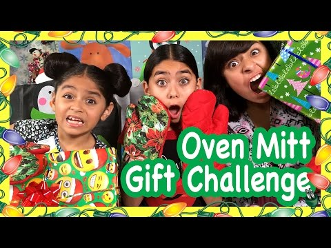 Oven Mitt Christmas Game CHALLENGES GEM Sisters