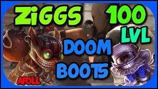 League of Legends - Ziggs Mid - Doom Bots Level 100 Ez Win [PL]