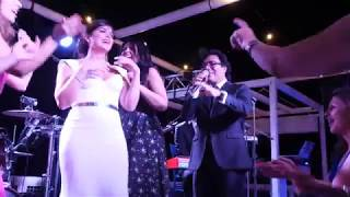 Andy sings at a wedding in Capri, Italy
