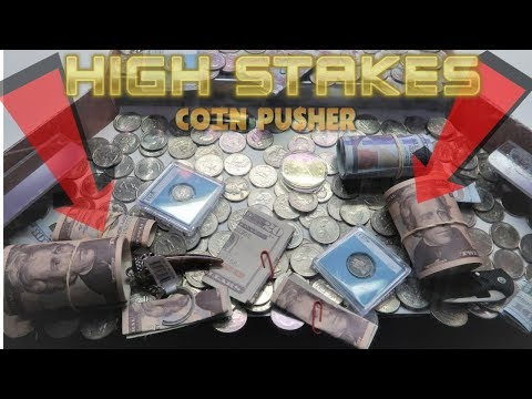 I WON 120 on a HIGH RISK Coin Pusher