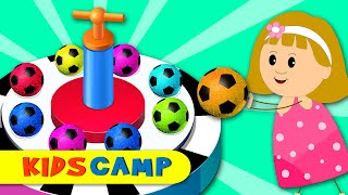 Learn Colors With Soccer Balls Shooting Dancing Balls Machine by KidsCamp