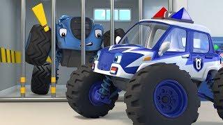 警車抓住了壞蛋 | 最新怪獸警車兒歌 | 学颜色童謠 | 奇妙救援队動畫 | 大灰狼卡通 | 寶寶巴士 | 奇奇