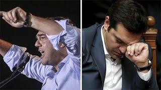 Greece PM Alexis Tsipras's changing rhetoric