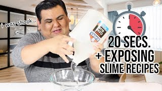 MAKING SLIME IN 20 SECONDS + EXPOSING MY RECIPES!!!