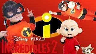 変身ごっこ映画インクレディブルファミリーを見に行った!ジャックジャックおもちゃ人形 DISNEY INCREDIBLES 2 JACK JACK DOLL | HaneMarisWorld