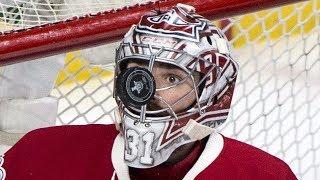 NHL Goalies Pucks to the Mask