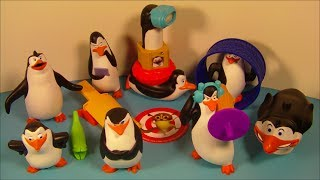 2010 NICKELODEON'S THE PENGUINS OF MADAGASCAR SET OF 8 McDONALD'S HAPPY MEAL TOY'S VIDEO REVIEW