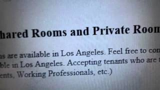 craigslist rooms for rent scams video