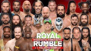 WWE Royal Rumble 2018: 30 MAN ROYAL RUMBLE MATCH - WWE 2K18