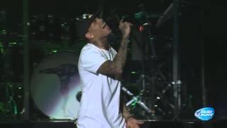 Chris Brown & Kid Ink performing