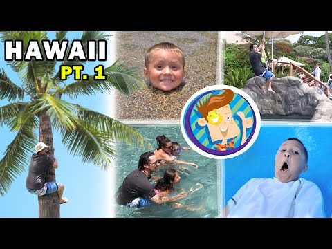 Splash Time in Hawaii! Riding a Water Elevator @ GRAND WAILEA! (FUNnel Vision Trip to Maui Part 1)