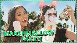 MARSHMALLOW FACE CHALLENGE!!| Do It For The Dough w/ Tessa Brooks and Tristan Tales