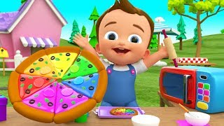 Little Baby Making Pizza DIY - Kids Toddlers Activities Learn Colors for Children with Pizza Slices